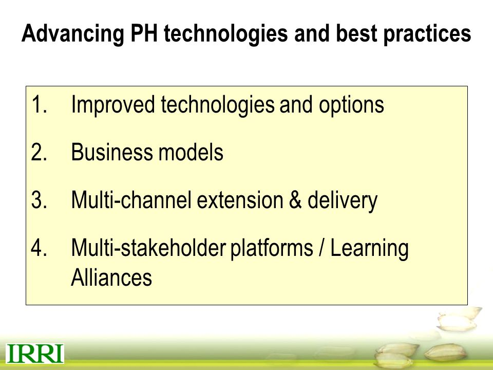 Advancing PH technologies and best practices