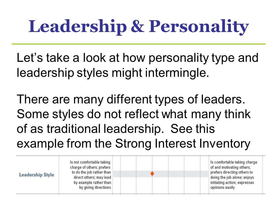Leadership & Personality