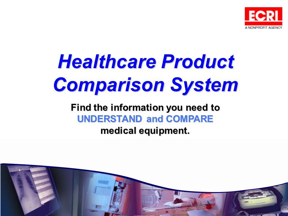 Healthcare Product Comparison System