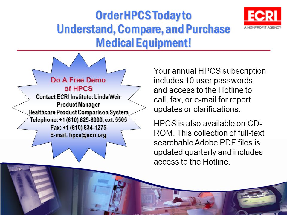 Order HPCS Today to Understand, Compare, and Purchase Medical Equipment!