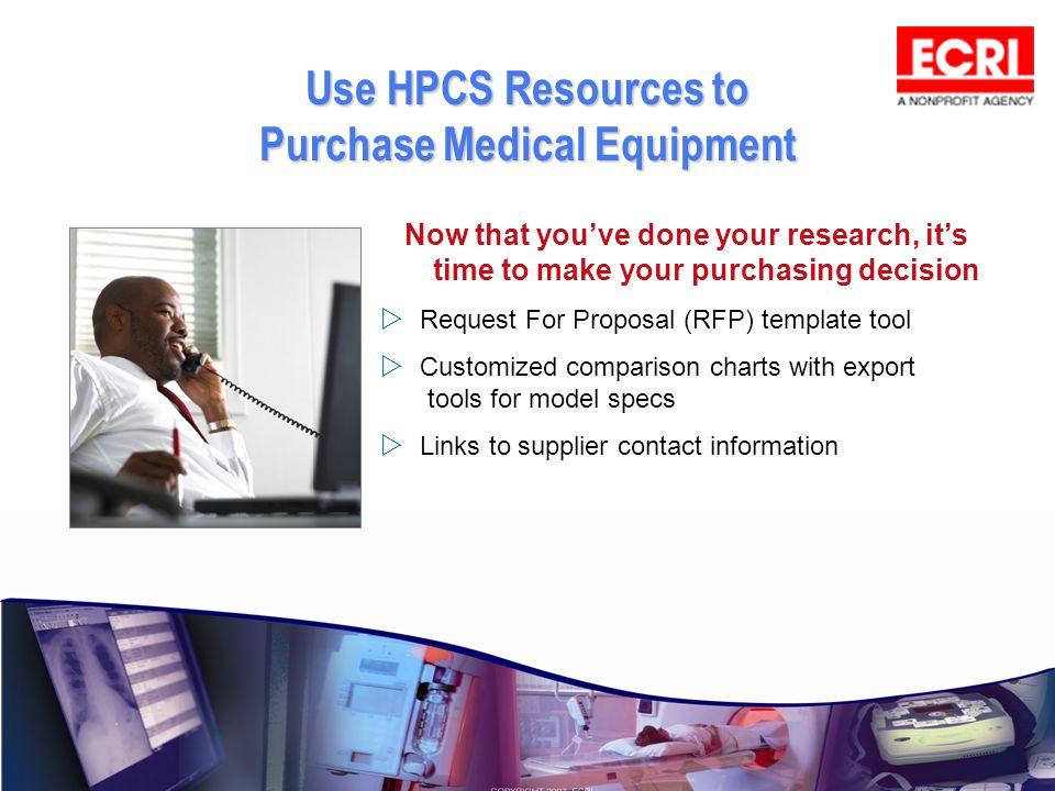 Use HPCS Resources to Purchase Medical Equipment