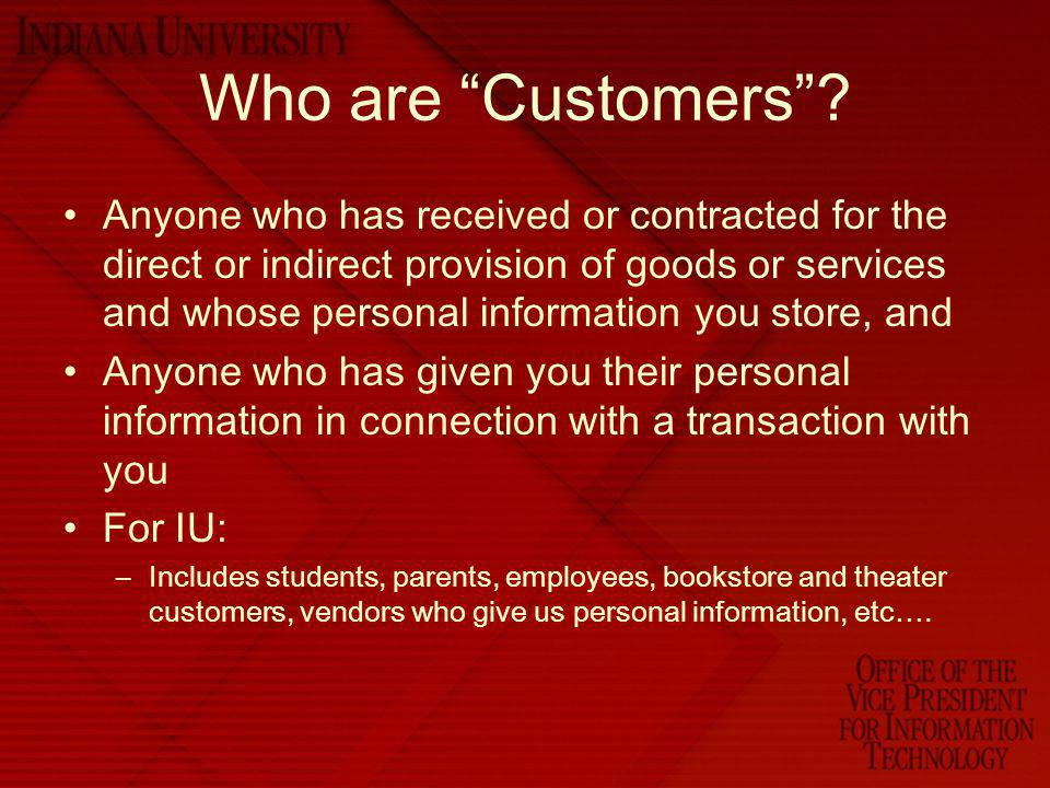 Who are Customers