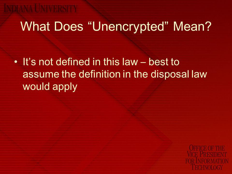 What Does Unencrypted Mean