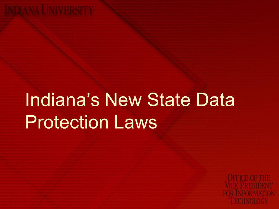 Indiana's New State Data Protection Laws