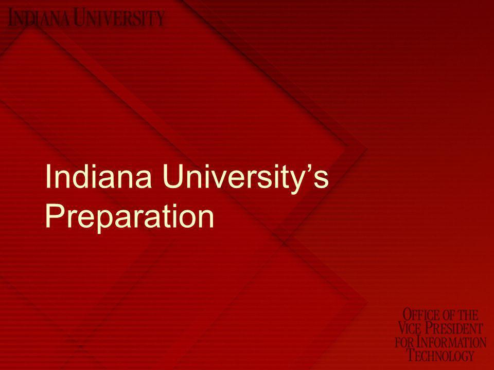 Indiana University's Preparation