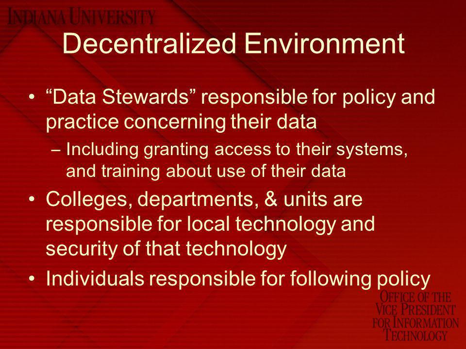 Decentralized Environment