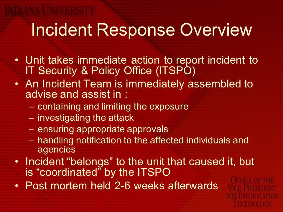 Incident Response Overview
