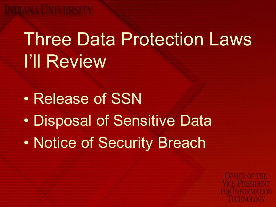Three Data Protection Laws I'll Review