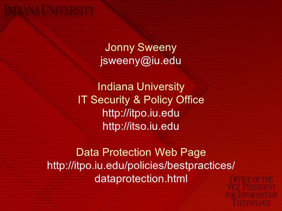 Jonny Sweeny jsweeny@iu