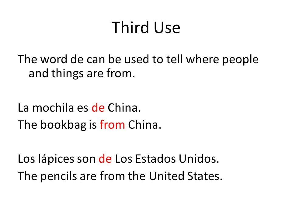 Third Use