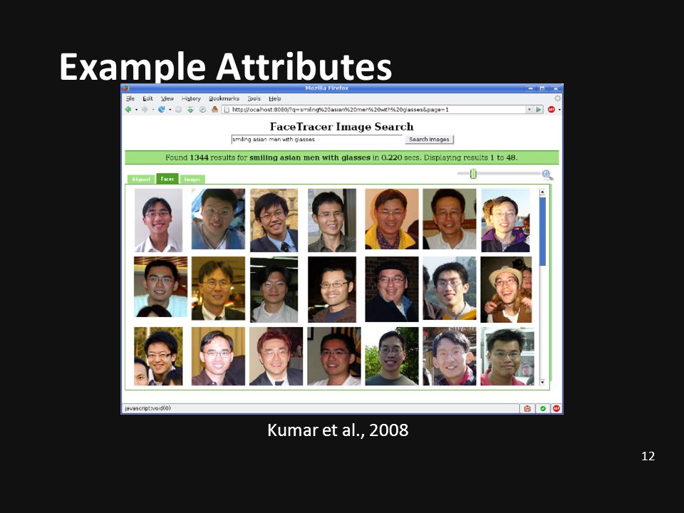 Example Attributes Face Tracer Image Search