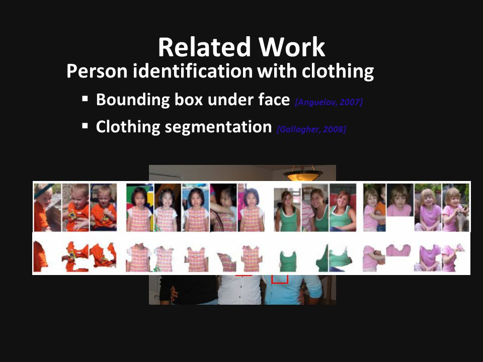 Related Work Person identification with clothing