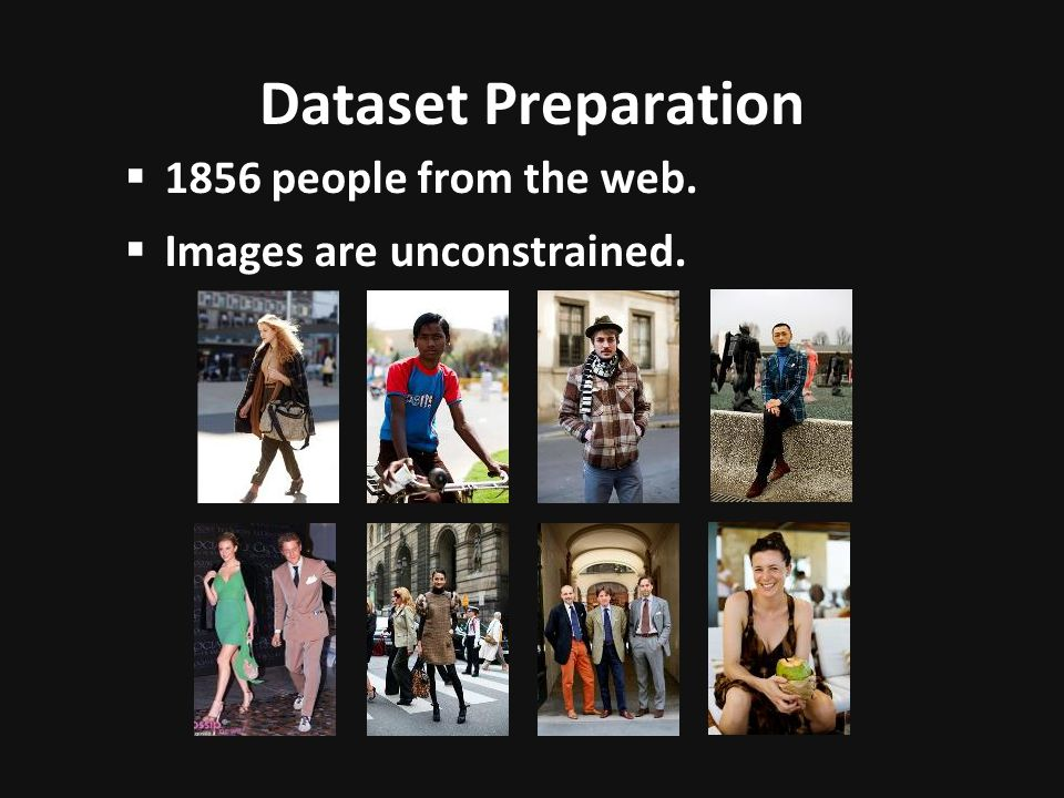 Dataset Preparation 1856 people from the web.