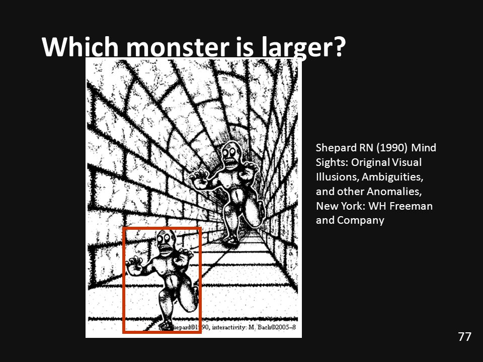 Which monster is larger