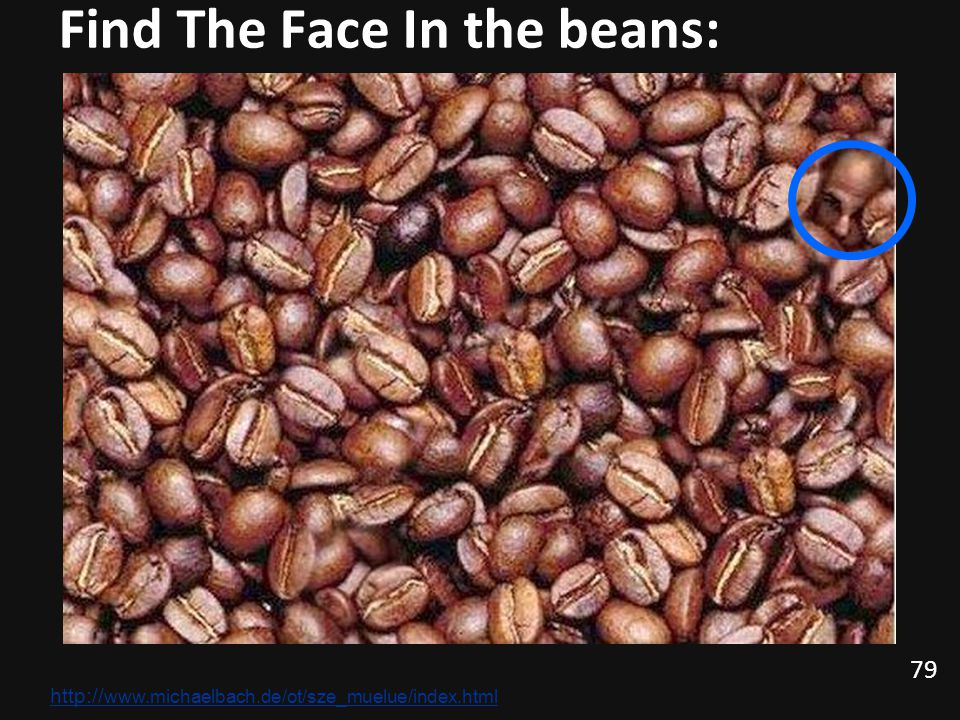 Find The Face In the beans: