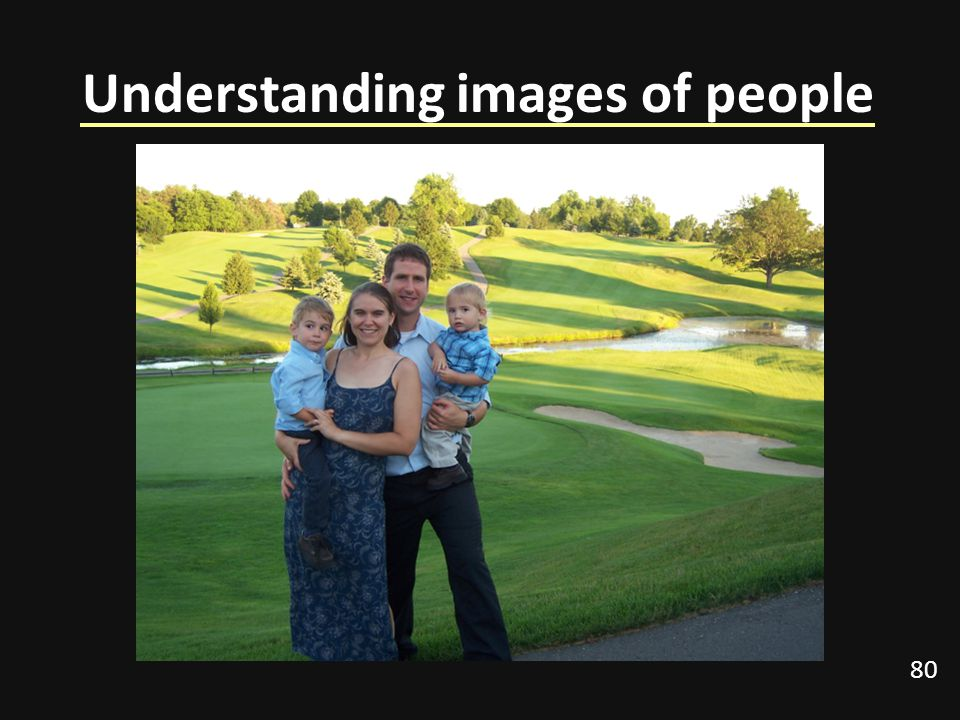 Understanding images of people