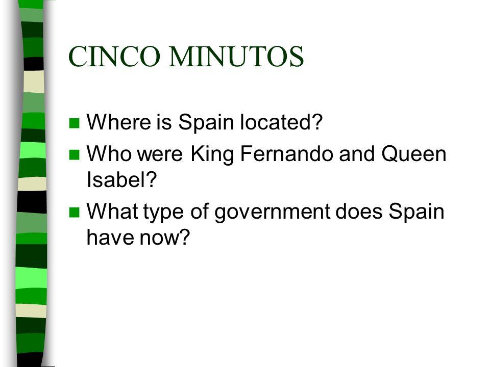CINCO MINUTOS Where is Spain located