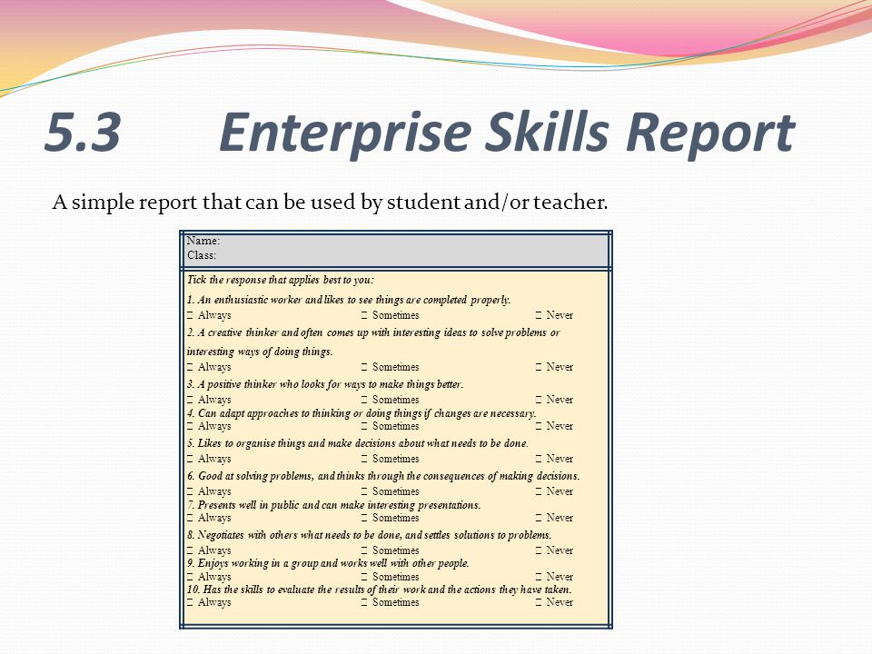 5.3 Enterprise Skills Report