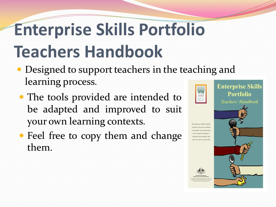 Enterprise Skills Portfolio Teachers Handbook