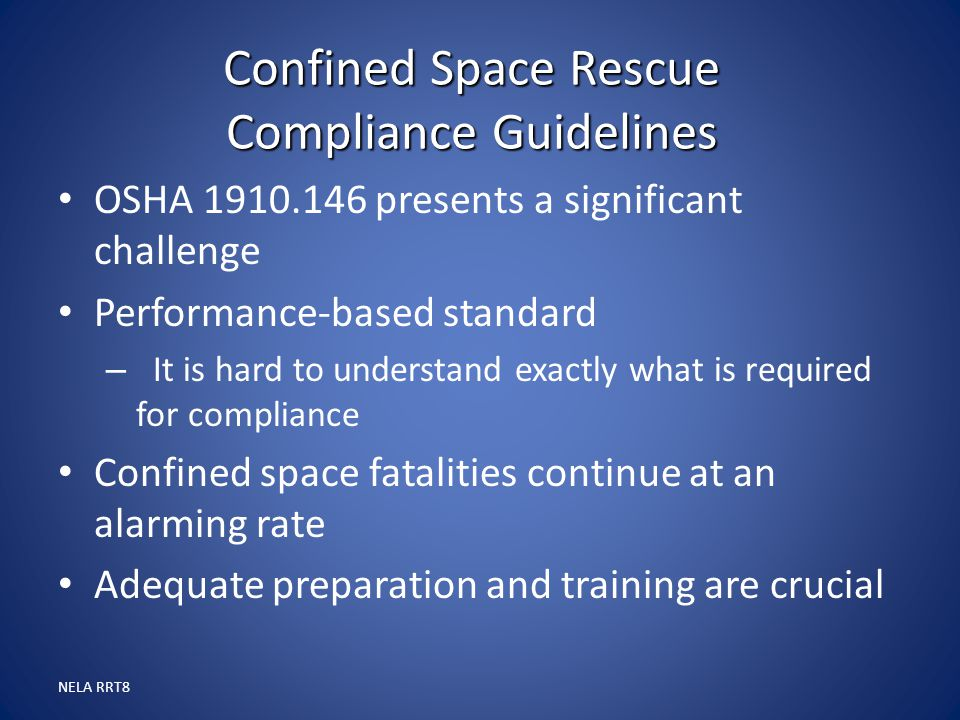 Confined Space Rescue Compliance Guidelines