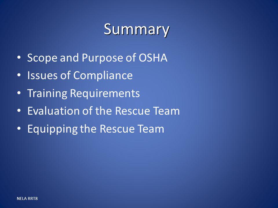 Summary Scope and Purpose of OSHA Issues of Compliance