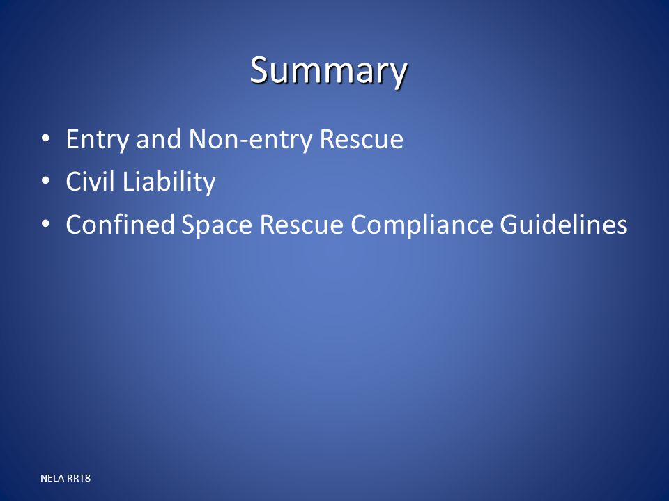 Summary Entry and Non-entry Rescue Civil Liability