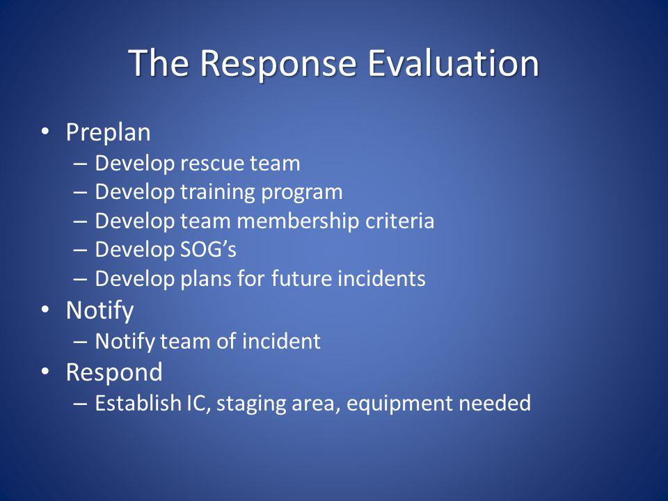 The Response Evaluation