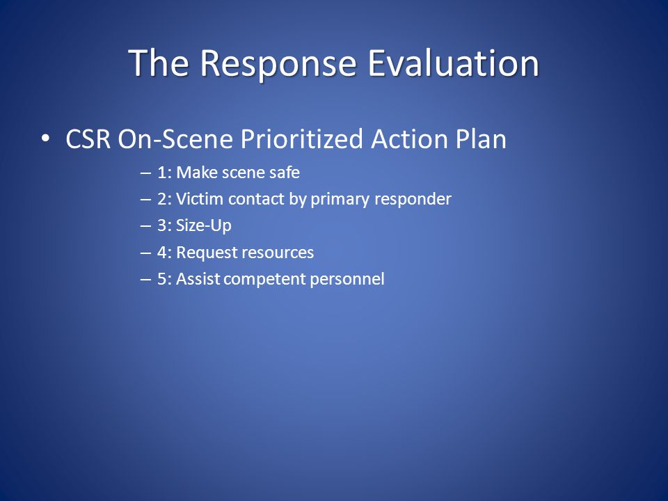 The Response Evaluation