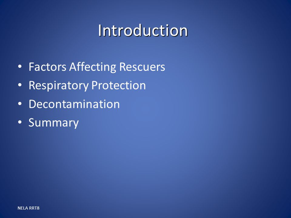 Introduction Factors Affecting Rescuers Respiratory Protection