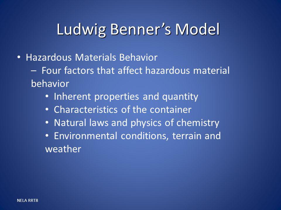 Ludwig Benner's Model Hazardous Materials Behavior