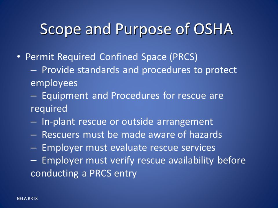 Scope and Purpose of OSHA