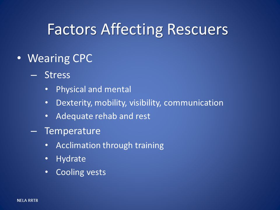 Factors Affecting Rescuers