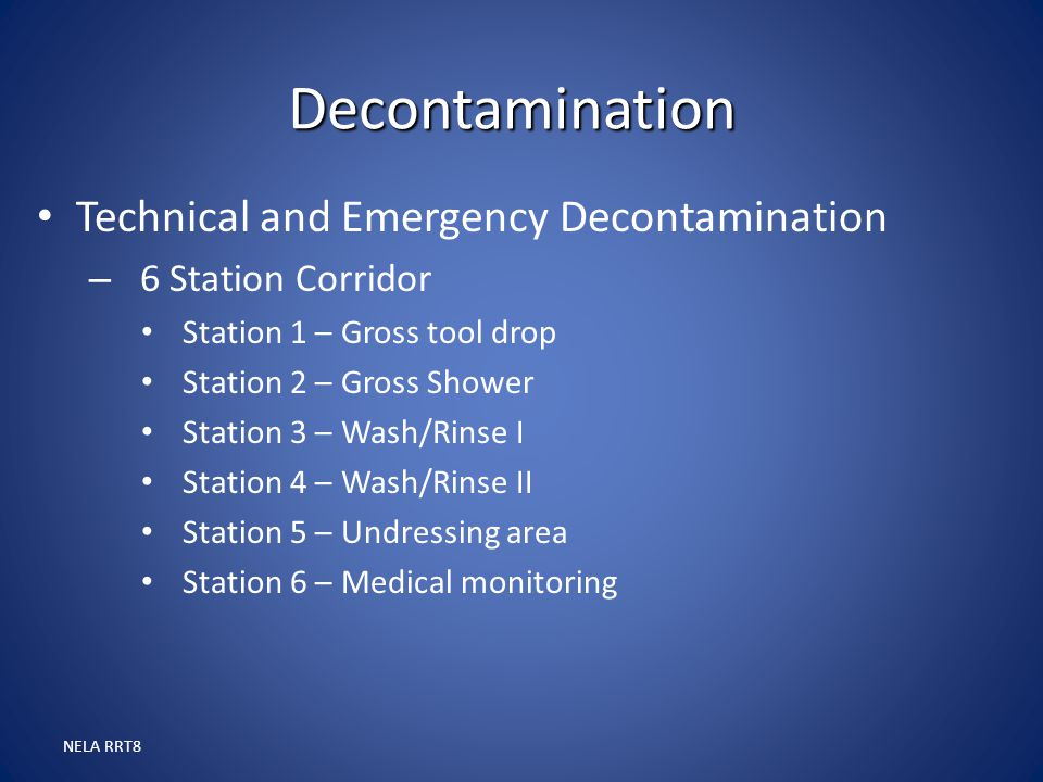 Decontamination Technical and Emergency Decontamination