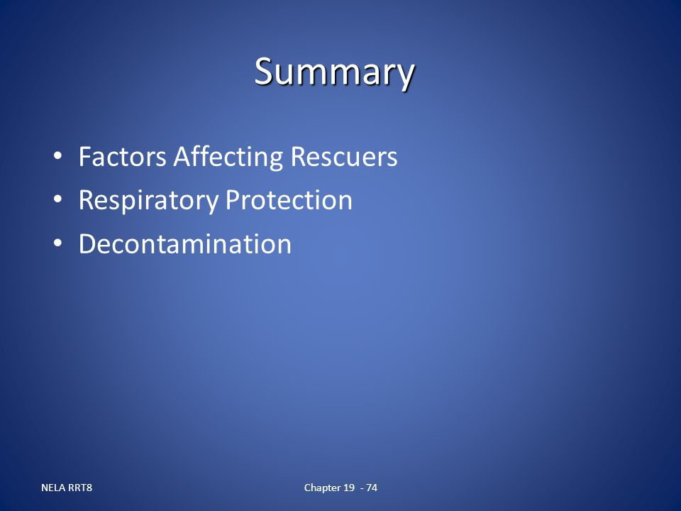Summary Factors Affecting Rescuers Respiratory Protection
