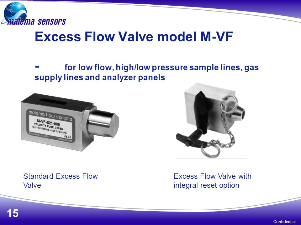 Excess Flow Valve model M-VF -