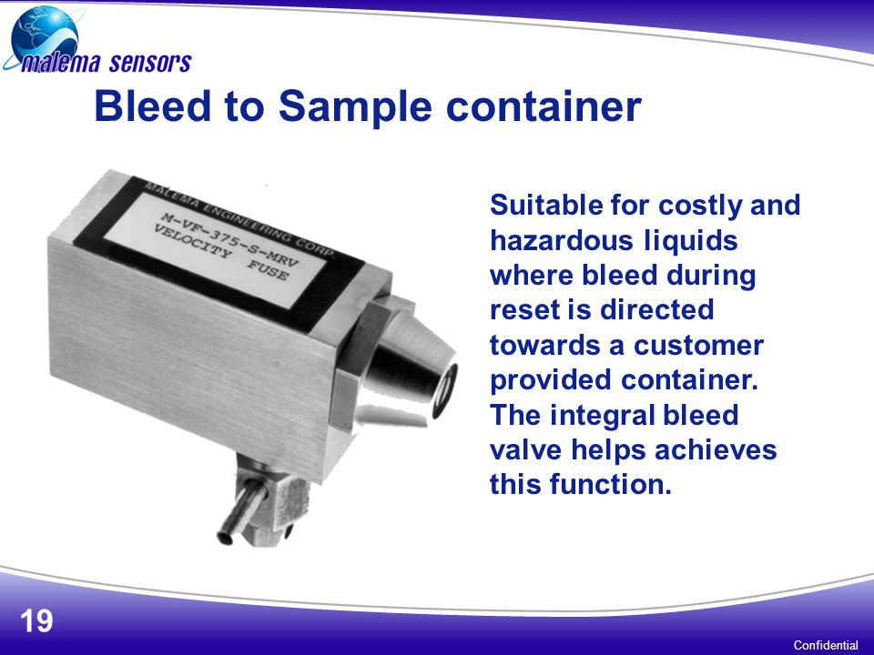 Bleed to Sample container