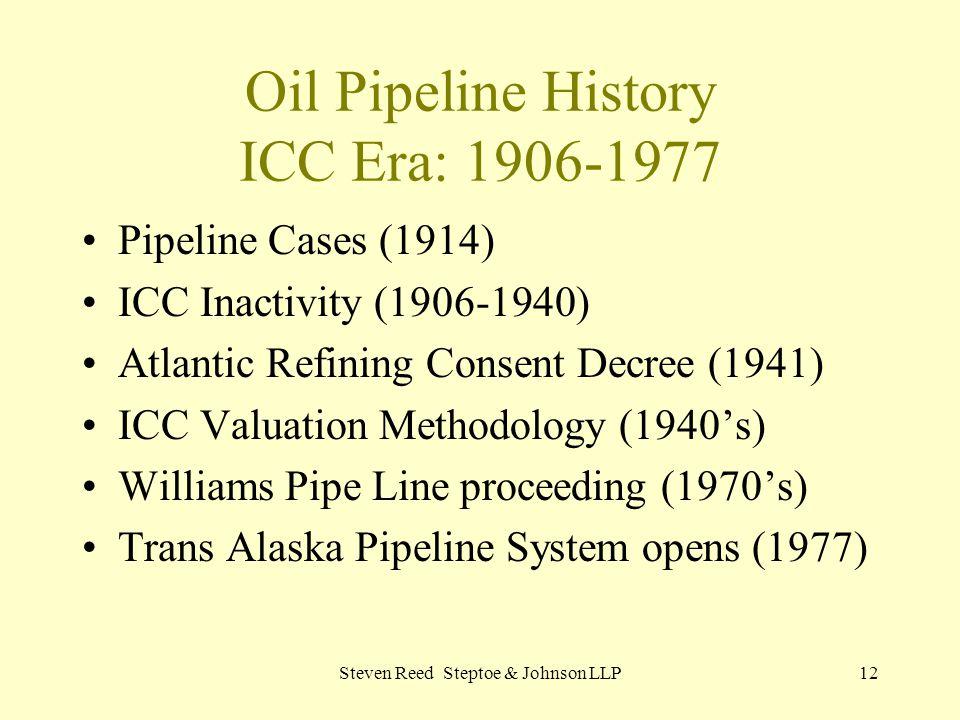 Oil Pipeline History ICC Era: 1906-1977