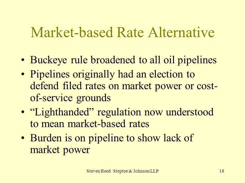 Market-based Rate Alternative