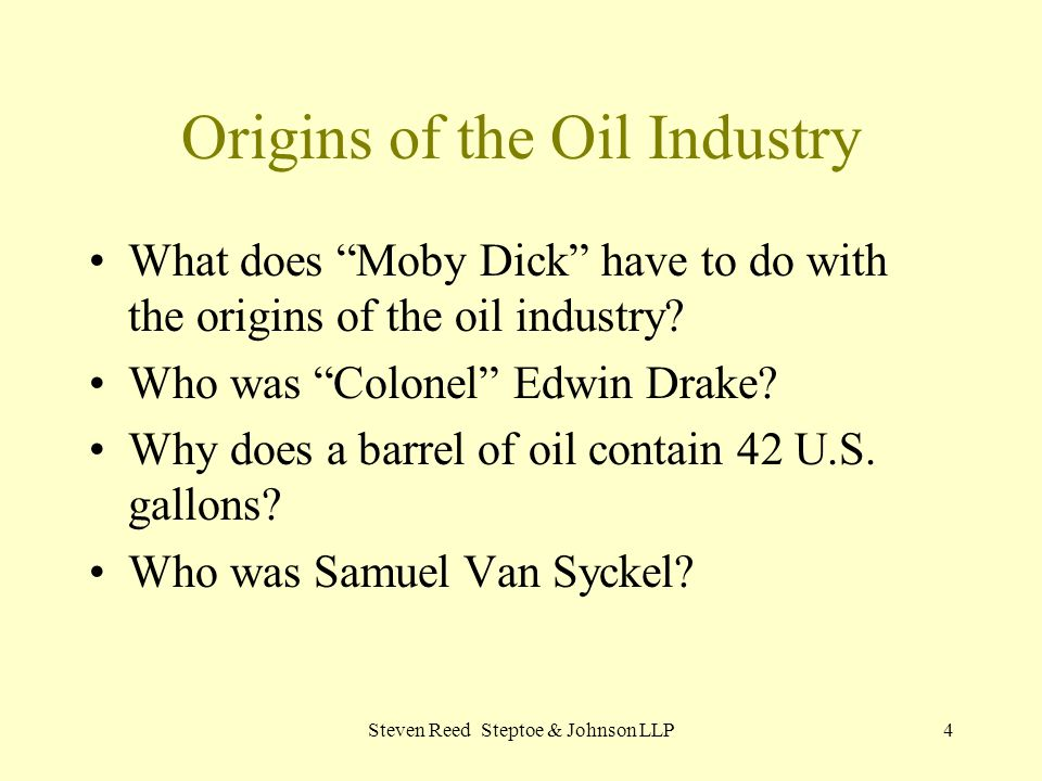 Origins of the Oil Industry
