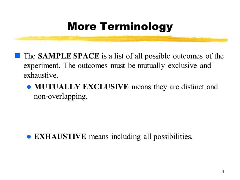 MAT 103 More Terminology.