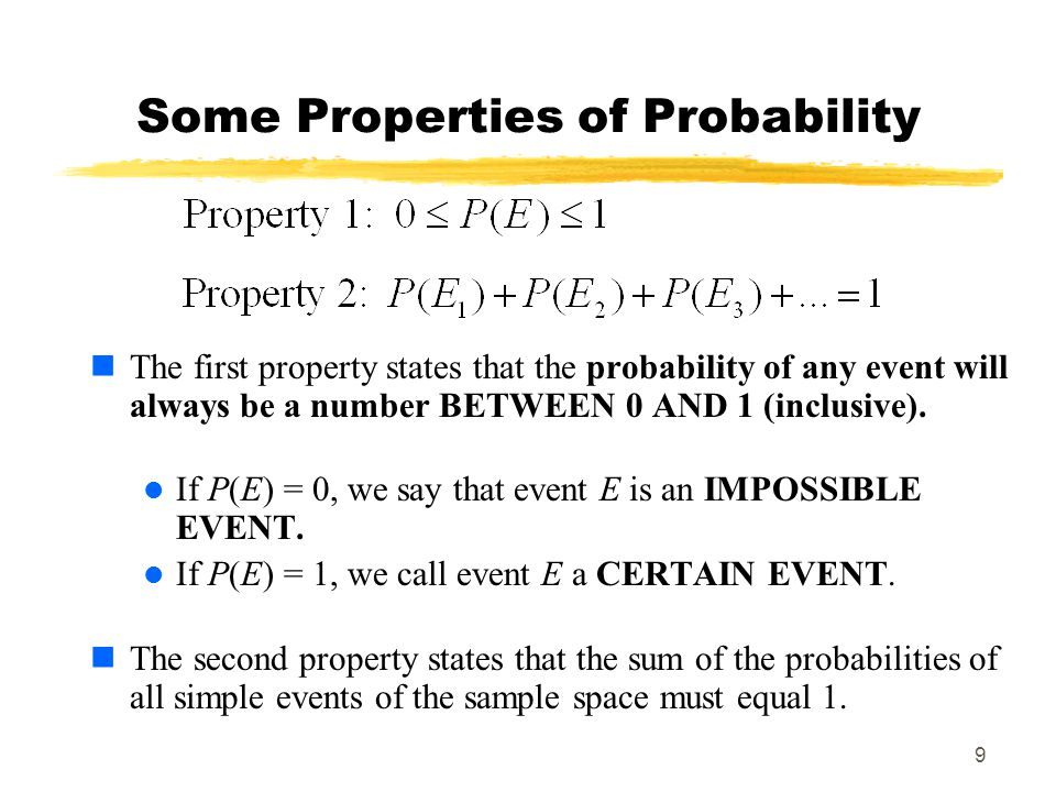 Some Properties of Probability