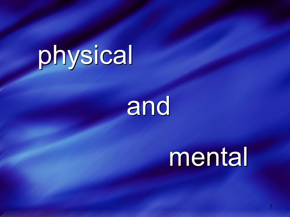 physical and mental