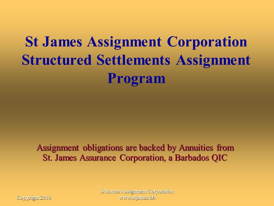 St James Assignment Corporation www.stjames.bb