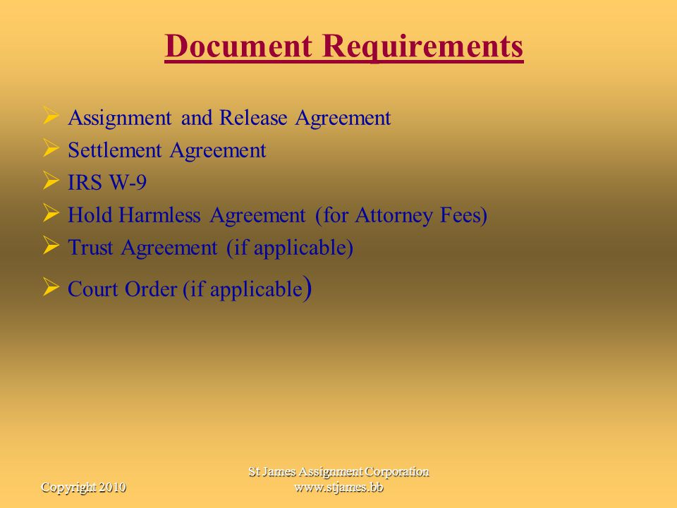 Document Requirements