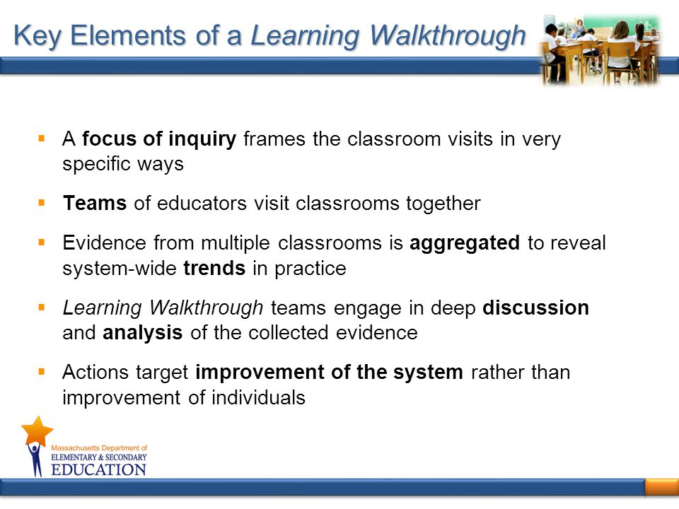 Key Elements of a Learning Walkthrough