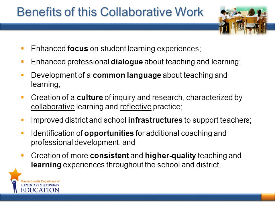 Benefits of this Collaborative Work
