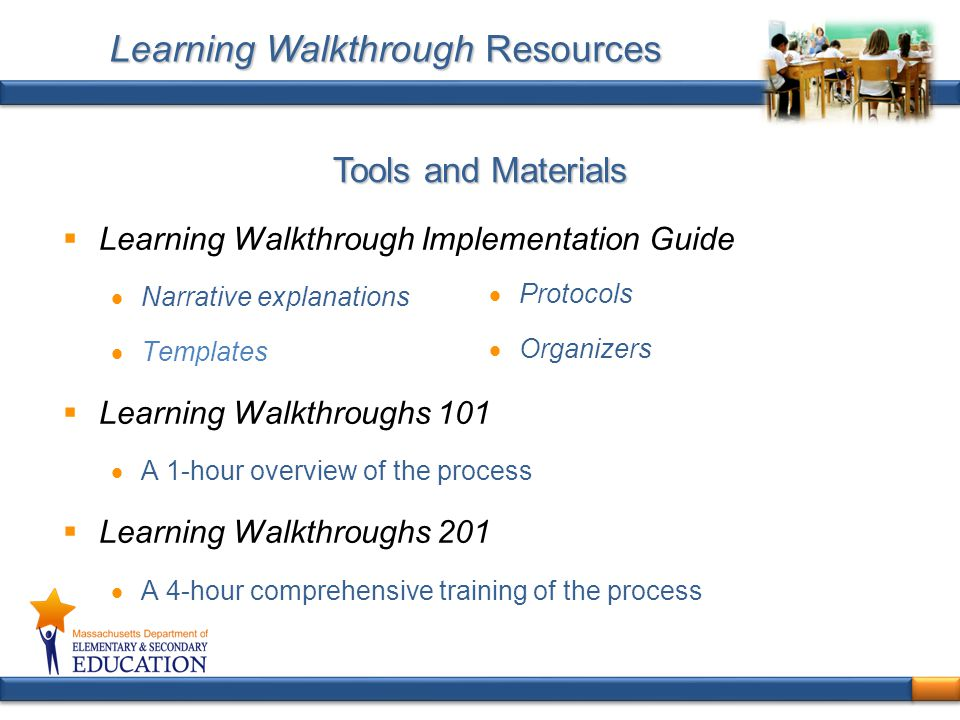 Learning Walkthrough Resources