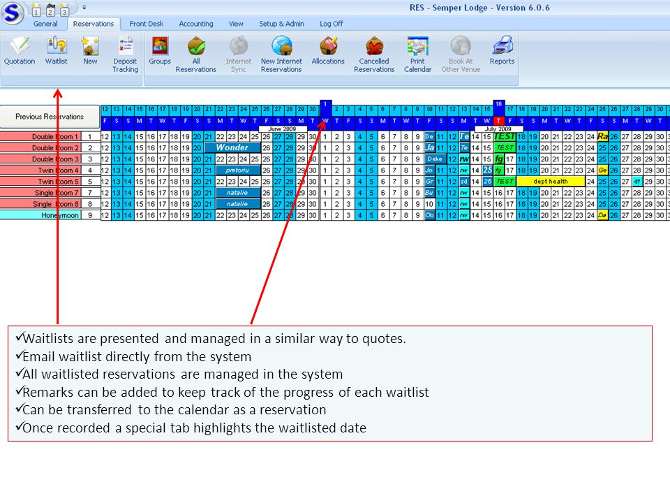 Waitlists are presented and managed in a similar way to quotes.