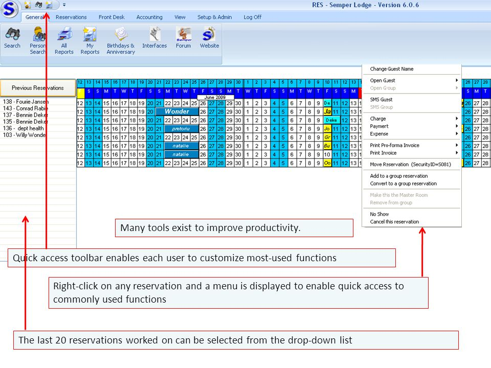 Quick access toolbar enables each user to customize most-used functions