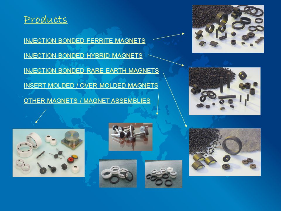 Products INJECTION BONDED FERRITE MAGNETS